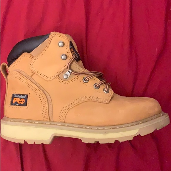 """13bed536ea9 Mens Timberland Pro Pit Boss 6"""" Soft Toe Work Boot NWT"""